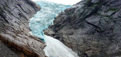 langue glaciaire du glacier Svartisen