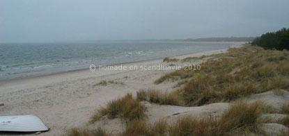 Plage de sable blanc de Böda