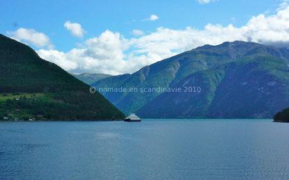 Kaupanger, vue sur le Sognefjord