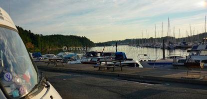 Soirée paisible sur le port de Bygdøy