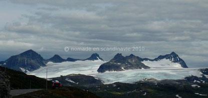 La chaîne du Jotunheimen et le Galdhøpiggen.