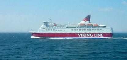 Le bateau de la Viking Line qui nous transporte en Finlande.