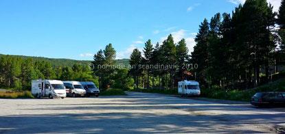 Geilo, parking du stade de ski de fond