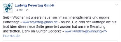 Empfehlung des GF Roland Schneider von der Ludwig Feyertag GmbH | Branche Schädlingsbekämpfung