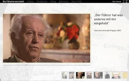 Interview mit einem Zeitzeugen. Bild: http://stiftung-sbg.de/faelscher/.
