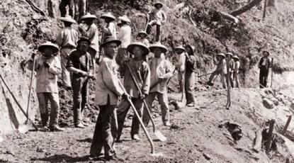 Immigrants xinesos que van ajudar a construir el primer Ferrocarril Transcontinental d'Amèrica