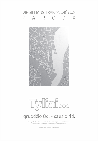 "The promotional poster for the paper cutting exhibition ""Tyliai."""