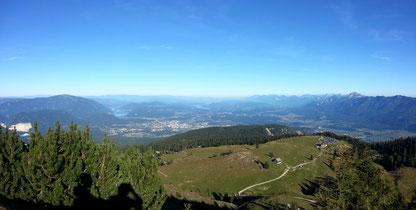 Urlaub und Ferien in Villach. Herrlicher Ausblick auf die Region Villach, Faaker See und Ossiacher See