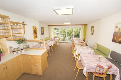 Frühstücksraum in unserem Gästehaus