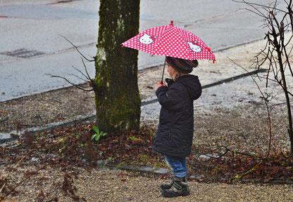 """08. Februar 2017 - """"Lass regnen, wenn es regnen will, dem Wetter seinen Lauf; denn wenn es nicht mehr regnen will, so hört's von selber auf!"""" (Goethe)"""