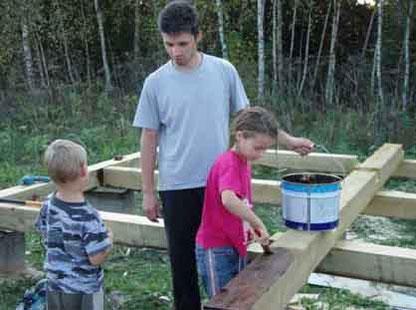 與孩子一同蓋自己的房子