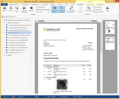 Bildschrim-Foto von der neuen Version 6 TopKontor Handwerk