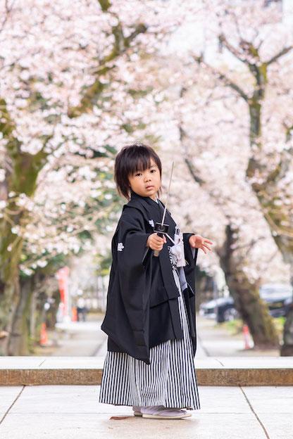 豊島区 法明寺 七五三 5歳 家族写真 こども写真 女性カメラマン