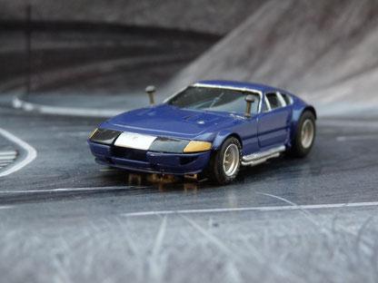 AURORA AFX Ferrari Daytona Coupe blau