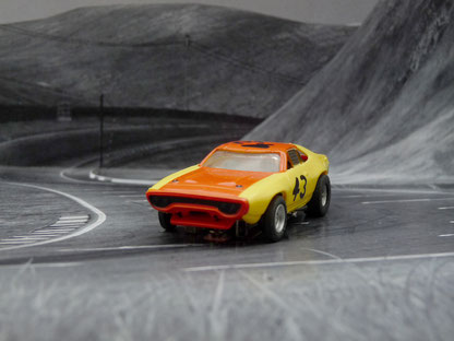 AURORA AFX Plymouth Road Runner Stock Car gelb/orange #43