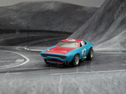 """Plymouth Road Runner Stock Car blau/rot #43 """"blue nose"""""""