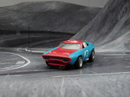"Plymouth Road Runner Stock Car blau/rot #43 ""red nose"""