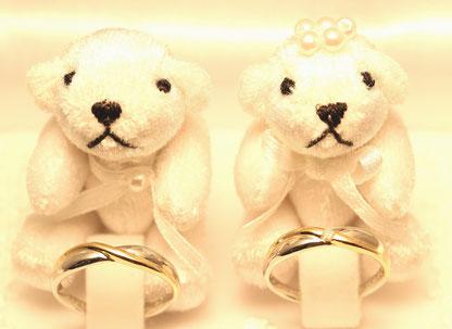 Pt900&K18   M:¥54000- F:¥56.000-(Diamond)