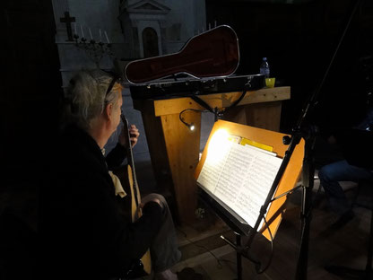 Duo flûte et guitare STUDIO MARSYAS, Guy du Cheyron mars 2017