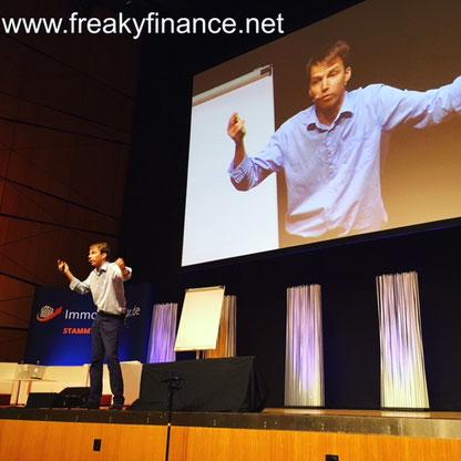 freaky finance, Immopreneur Kongress 2017, Hauptbühne, Darmstadtium,  Achim Zimmermann auf der Bühne