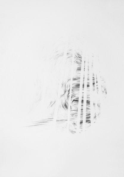 Sans Titre, Mine de plomb sur papier, 50X40 cm, 2019