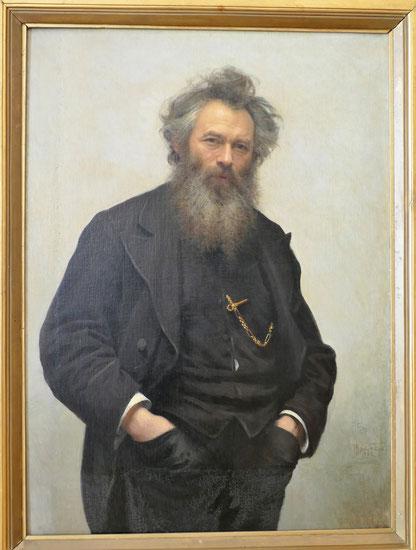 Ivan Kramskoy (1837-1887) : portrait d'Ivan Shishkin
