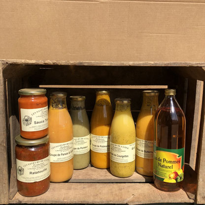 Choix de soupes de légumes variés et de sauce tomates producteur les saveurs de Gâtine