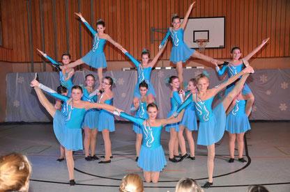 Die Fortgeschrittenen Gruppe der Dancing Angels