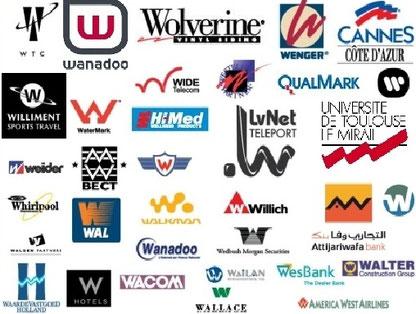 Sigles et logos avec W - Cliquer pour agrandir