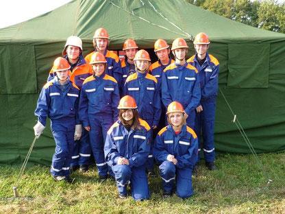 Gruppe zum Zeltlager 2009