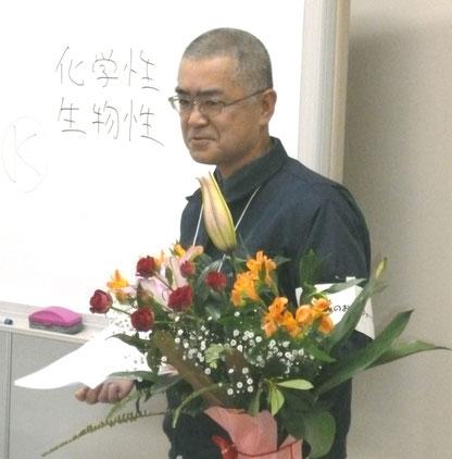 講師の上田芳弘さん(園芸農家)