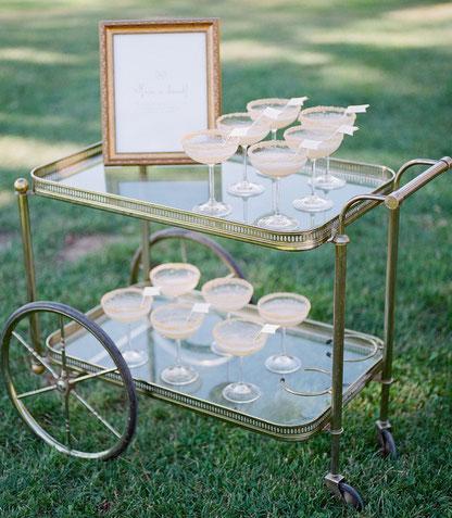 Hochzeitsplanung; Drinks; Gatsby Wedding; Champagne