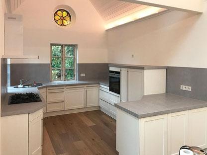 Edelputz in Betonoptik | Küche