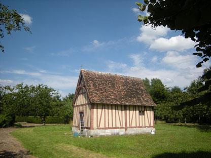 La chapelle aujourd'hui, en cours de peinture