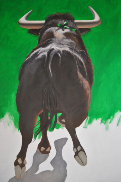 tauromachie-artiste-peintre-taureau-de-combat-corrida-toro-toreo-vert