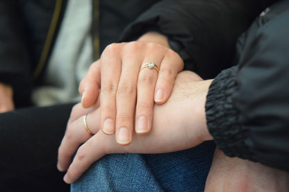 結婚指輪の着用写真