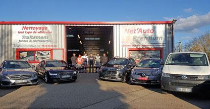 L'équipe de Net'Auto Premium à Montagnat dans l'Ain