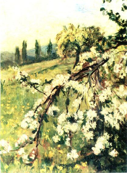 Emilie Langebartels - Apfelblüte, Abb.: Galerie+Atelier Remise