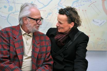 Initiative Elvis in Bad Nauheim v.li.: Karl-Heinz Horcher u Beatrix van Ooyen, Foto: Jürgen Wegener