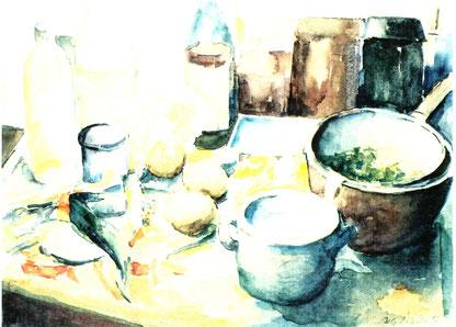 Johanna Pahlow - Küchenstillleben, Abb.: Galerie+Atelier Remise