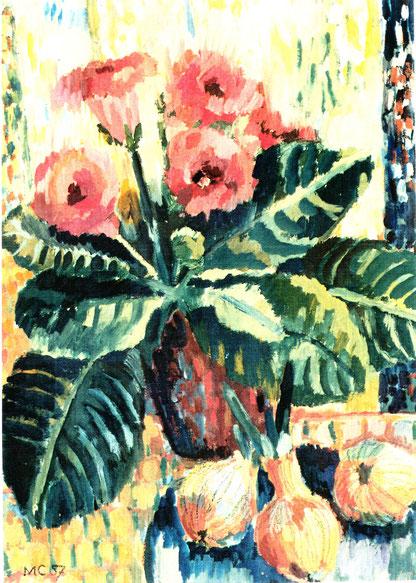 Sr. Maria Canisa - Stilleben mit Gloxinie, Abb.: Galerie+Atelier Remise