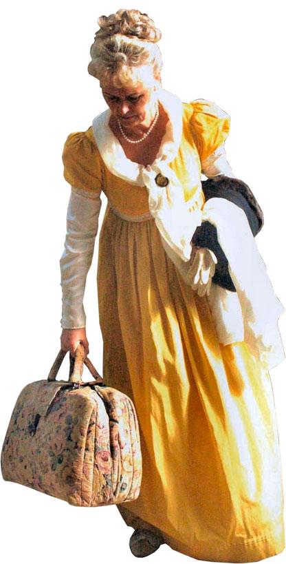 Gertrud Gilbert (GG), Bad Nauheim, trifft als Werthers Lotte Goethe