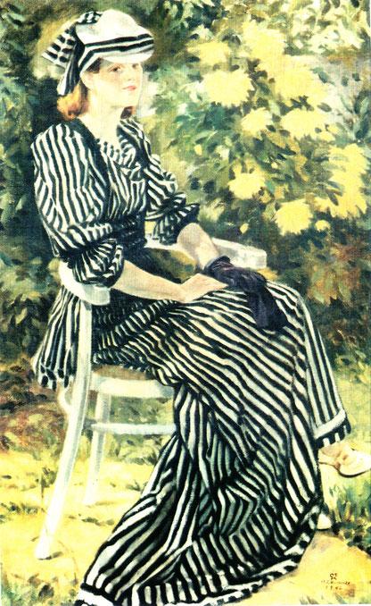 Otto Franz Kutscher - Ruhepause im Garten, Abb.: Galerie+Atelier Remise