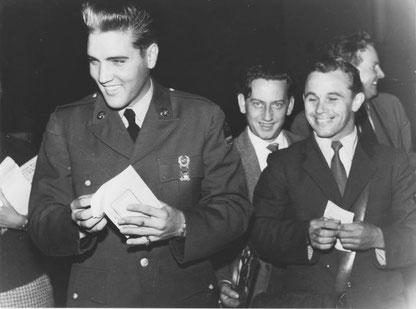 Franz Kössler überbrachte Elvis das Ankunftstelegramm seines Clans, Sammlung Online-Museum Bad Nauheim