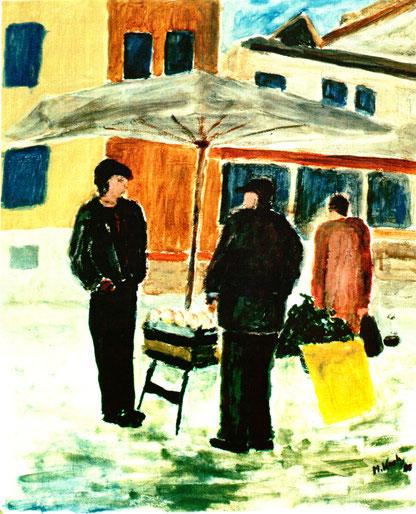Dr. Hans Koch - Beim Wochenmarkt, Abb.: Galerie+Atelier Remise