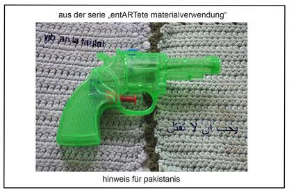 hinweis für pakistanis (Anm.d.Red: du sollst nicht töten), Jürgen Wegener