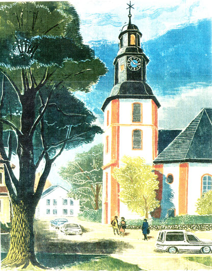 Erich Pahlow - An der Wilhelmskirche, Abb.: Galerie+Atelier Remise
