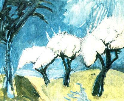 Friedrich Becker - Blühende Bäume, Abb.: Galerie+Atelier Remise