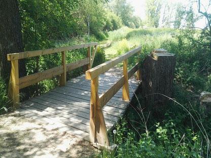 Neue Brücke am Schafstall