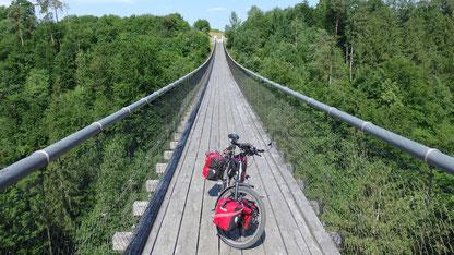 Hängebrücke bei Lavamünd